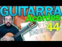 """Curso de Guitarra, """"armonía"""", lectura e interpretación de acordes empleando el cifrado. Lección 44"""