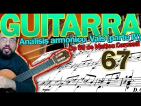 Análisis armónico del vals en Re mayor, Op 59 de Matteo Carcassi. Lección 67, parte 4.