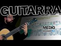 Guitarra fácil, clases online Notas en todo el diapasón y métodos de análisis y memorización NIVEL MEDIO - Lección A1.